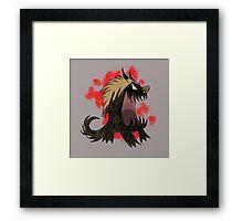 Brown hound, Don't Starve Framed Print