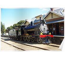 207 Steam Engine at Victor Harbour Station Poster
