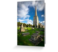 St Mary's, Painswick, Cotswolds, England Greeting Card