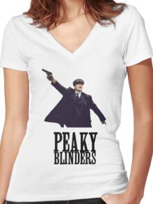 Peaky Blinders Murphy Women's Fitted V-Neck T-Shirt