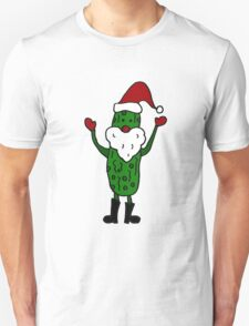 Funny Cool Pickle Santa Claus ChristmasArt T-Shirt
