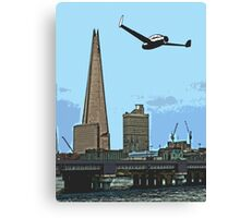 Flying past the Shard in 2020 Canvas Print