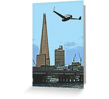 Flying past the Shard in 2020 Greeting Card
