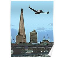 Flying past the Shard in 2020 Poster