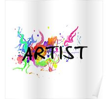 Colorful Artist Statement  Poster