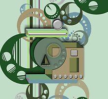3D Shape iPhone Case IV by Cherie Balowski