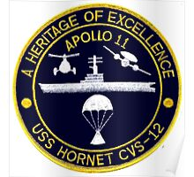 "USS Hornet CVS-12 ""Official"" Apollo 11 Recovery Crest Poster"