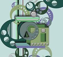 3D Shape iPhone Case V by Cherie Balowski