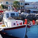 Greek Fishing Boat. by John (Mike)  Dobson