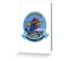 CVS-12 USS Hornet Apollo 11 Recovery Patch 2 Greeting Card