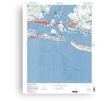 Historical Map of Beaufort North Carolina Canvas Print