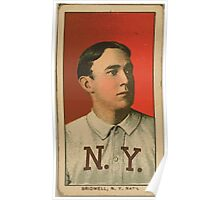 Benjamin K Edwards Collection Al Bridwell New York Giants baseball card portrait 001 Poster