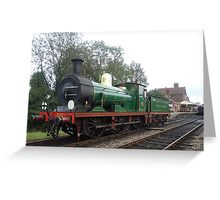 Bluebell Steam Railway - Victorian Engine - South Eastern & Chatham Railway C-class No.592 Greeting Card
