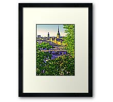 A peek of the Old Town, Stockholm. Framed Print