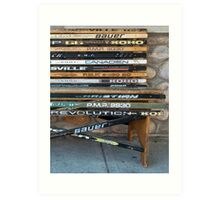 Ice Hockey sticks Art Print