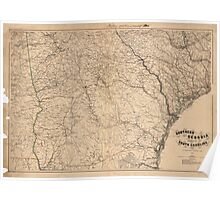 Map of Southern Georgia and part of South Carolina (1865) Poster