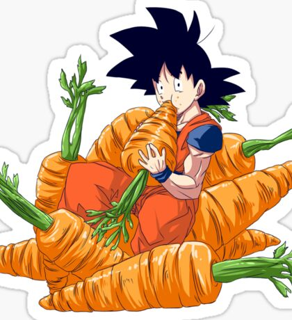 Goku and his vegetables Sticker
