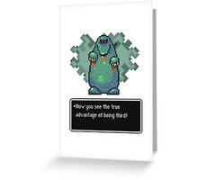 The Third Strongest Mole Greeting Card