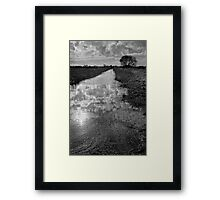 Withney Dyke 01 - Near Inskip, Fylde, Lancs Framed Print