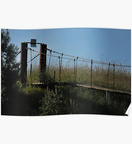 Battered Bridge Poster