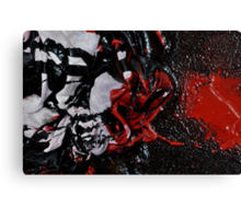 Close up of abstract painting RAPE Canvas Print