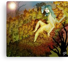 Reclining Leaves Canvas Print