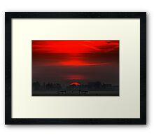 Red sun 3 Framed Print