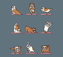 English Bulldog Yoga by Huebucket