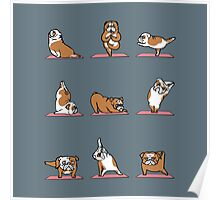 English Bulldog Yoga Poster
