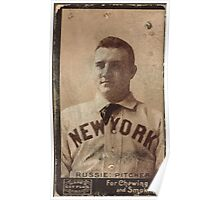 Benjamin K Edwards Collection Amos Rusie New York Giants baseball card portrait Poster