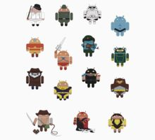 DroidArmy: Maclac Squadron (Mini Stickers) by Malc Foy