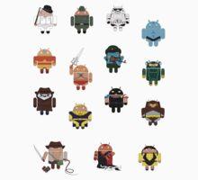 DroidArmy: Maclac Squadron (Mini Stickers) by maclac