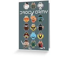 DroidArmy: Maclac Squadron (on your wall!) Greeting Card