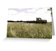 An old ford in the field Greeting Card