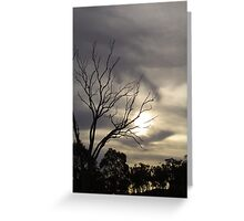 A hauntingly beautiful, late afternoon, drive into the countryside Greeting Card