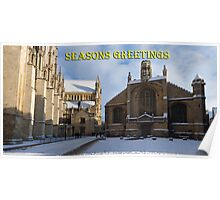 Seasons greeting from York Minster Poster
