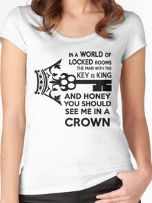 Moriarty Key Quote - Black Text Women's Fitted Scoop T-Shirt