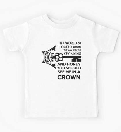 Moriarty Key Quote - Black Text Kids Tee