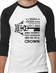 Moriarty Key Quote - Black Text Men's Baseball ¾ T-Shirt