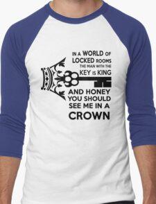 Moriarty Key Quote - Black Text Men's Baseball ¾ T-Shirt