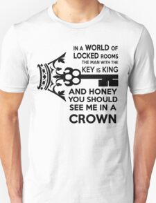 Moriarty Key Quote - Black Text T-Shirt