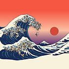 The Great Wave of Englidh Bulldog by Huebucket
