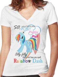 Best pony Women's Fitted V-Neck T-Shirt