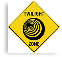 Twilight Zone Street Sign Canvas Print