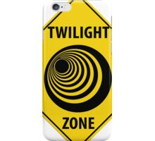 Twilight Zone Street Sign iPhone Case/Skin