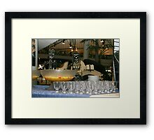 Glasses for guests. Framed Print