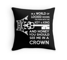 Moriarty Key Quote - White Text Throw Pillow