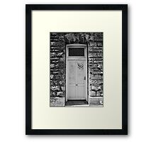 Young men set off to war from here Framed Print