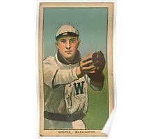Benjamin K Edwards Collection Bill Shipke Washington Nationals baseball card portrait Poster