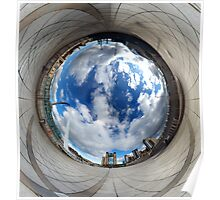 Gateshead Quayside Stereographic Projection Rabbit Hole Poster